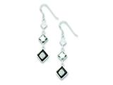 Sterling Silver Clear, Smokey and Black Cubic Zirconia Dangle Earrings style: QE5288