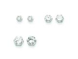 Sterling Silver 3 Pair Set Cubic Zirconia Earrings style: QE5357SET