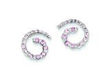 Sterling Silver Pink Cubic Zirconia Post Earrings style: QE5415