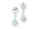 Sterling Silver Clear Cubic Zirconia Dangle Earrings style: QE5417