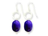 Sterling Silver Amethyst Earrings style: QE5522
