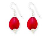 Sterling Silver Red Agate Earrings style: QE5598