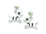 Sterling Silver Zebra Resin Earrings