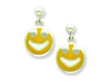 Sterling Silver Smiley Face Resin Earrings