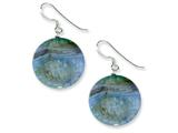 Sterling Silver Blue Agate Earrings style: QE5853