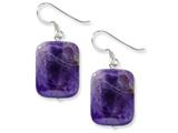 Sterling Silver Amethyst Earrings style: QE5891