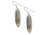 Sterling Silver Botswana Agate Dangle Earrings style: QE6199
