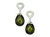 Sterling Silver Cubic Zirconia Teardrop Post Dangle Earrings style: QE6271