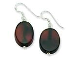Sterling Silver Dream Agate Dangle Earrings style: QE6433