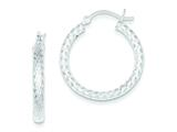 Sterling Silver Diamond-cut 25mm Hoop Earrings style: QE6806