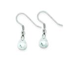 Sterling Silver Cubic Zirconia Dangle Wire Earrings style: QE7276