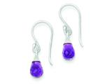 Sterling Silver Amethyst Dangle Earrings style: QE7410