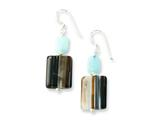 Sterling Silver Aquamarine/botswana Agate Earrings style: QE7589
