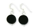 Sterling Silver Black Agate Dangle Earrings style: QE7590