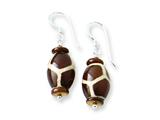 Sterling Silver Glass Bead/agate/mop Earrings style: QE7599