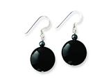 Sterling Silver Black Agate and Hematite Earrings style: QE7624