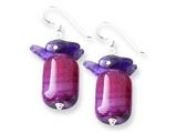 Sterling Silver Purple Agate and Amethyst Earrings style: QE7633