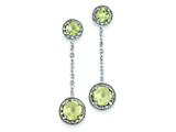 Sterling Silver Diamond and Lemon Quartz Earrings style: QE7738LQ