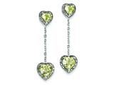 Sterling Silver Diamond and Lemon Quartz Earrings style: QE7740LQ