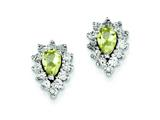 Sterling Silver Diamond and Lemon Quartz Earrings style: QE7742LQ