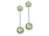 Sterling Silver Diamond and Lemon Quartz Earrings style: QE7744LQ