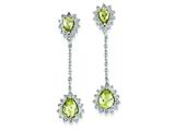 Sterling Silver Diamond and Lemon Quartz Earrings style: QE7745LQ