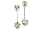 Sterling Silver Diamond and Lemon Quartz Earrings style: QE7746LQ
