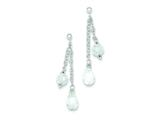 Sterling Silver Cubic Zirconia Drop Dangle Post Earrings style: QE8074