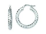 Sterling Silver Diamond Cut Hoop Earrings style: QE8484