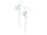 Sterling Silver Butterfly Wind Chime Dangle Shepherd Hook Earrings style: QE8802