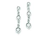 Sterling Silver Polished Bead Post Dangle Earrings style: QE8835