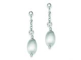 Sterling Silver Textured Hollow Bead Post Dangle Earrings style: QE8842