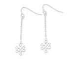 Sterling Silver Cubic Zirconia Polished Dangle Earrings style: QE9001