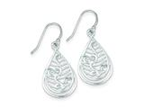 Sterling Silver Cubic Zirconia Shepherd Hook Earrings style: QE9060