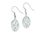 Sterling Silver Polished Cubic Zirconia Dangle Earrings style: QE9095