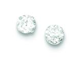 Sterling Silver Cubic Zirconia 6mm Post Earrings style: QE9107