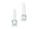 Sterling Silver Cubic Zirconia Post Earrings style: QE9133