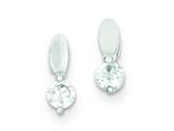 Sterling Silver Cubic Zirconia Post Earrings style: QE9134