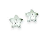 Sterling Silver Cubic Zirconia Star Post Earrings style: QE9142