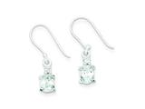 Sterling Silver Cubic Zirconia Dangle Shepherd Hook Earrings style: QE9153