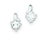 Sterling Silver Cubic Zirconia Post Earrings style: QE9173