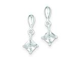 Sterling Silver Cubic Zirconia Dangle Earrings style: QE9178