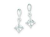 Sterling Silver Cubic Zirconia Dangle Earrings style: QE9178