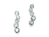 Sterling Silver Polished Cubic Zirconia Post Earrings style: QE9187