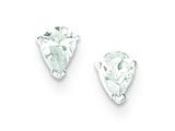Sterling Silver Cubic Zirconia Post Earrings style: QE9188