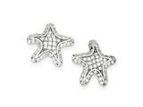 Sterling Silver Cubic Zirconia Starfish Earrings style: QE9236