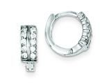 Sterling Silver Cubic Zirconia Hinged Earrings style: QE9266