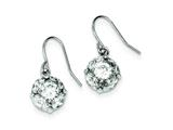 Sterling Silver Cubic Zirconia Dangle Earrings style: QE9282