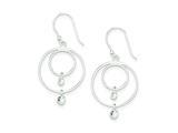 Sterling Silver Cubic Zirconia Shepherd Hook Earrings style: QE9295
