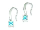 Sterling Silver Aquamarine Dangle Earrings style: QE9435